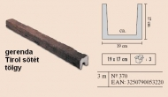 gerenda Tirol sötéttölgy 19x17cm, 3m