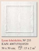 mennyezetburkoló Lyon fehérkõris