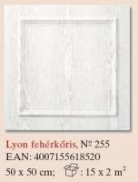 mennyezetburkoló Lyon fehérkőris